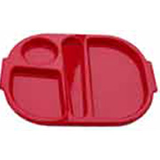 Red Polycarbonate Meal Tray (Small) H3110