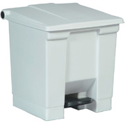 Rubbermaid 30L White Step -On Container FG614300