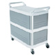 Rubbermaid Grey/White X-tra Cart 3 sides closed FG409300OWHT