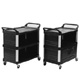 Rubbermaid Black X-tra Cart 3 sides closed FG409300BLA