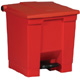 Rubbermaid 30L Red Step -On Container FG614300