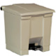 Rubbermaid 30L Beige Step -On Container FG614300
