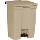 Rubbermaid 68L Beige Step -On Container FG614500
