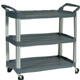 Rubbermaid Grey 3 tier X-tra Utility Trolley 1814568