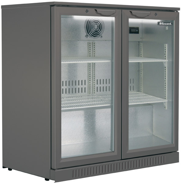 Blizzard Bottle Cooler Double Door BAR 2